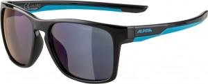 Slunecní brýle  Alpina FlexxyCool Kids I Obroucky cerná-cyan sklo modrá zrcadl.