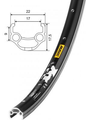 """Mavic XM 117 26"""" 559-17 36 děr černý"""