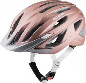 Cykl.helma Alpina Delft Mips ružová mat. vel.51-56cm