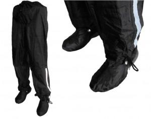 Pantalon coupe-pluie Rain Pants GamAs uni/noir respirant jusqu'à 175 cm