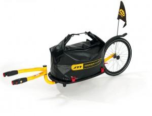 Weber - Einrad-Lastenanh�nger Weber Monoporter mit Kupplung, gelb, (ohne Packtasche)