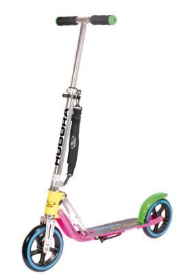 trottinette Big Wheel Alu 8' néon205 jaune/rose vif/verte 205mm