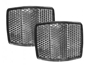 Reflektor-Set weiß für XLC -Anhänger - Pulsschlag Bike+Sport