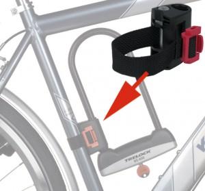 Trelock - Halter f�r B�gelschloss Trelock B 501 Textil, Universalhalter