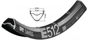 Felge DT Swiss E 512 27.5´´ schwarz - Pulsschlag Bike+Sport