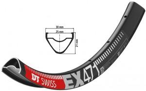 Felge DT Swiss EX 471 26´´ schwarz - Pulsschlag Bike+Sport