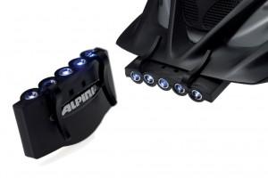 Alpina - Helmleuchte Alpina LED Spotlight schwarz.