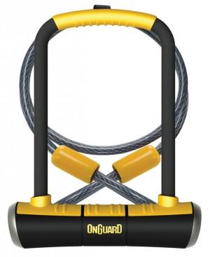 Onguard - B�gelschloss Onguard Pitbulll DT 8005 115 x 230mm, � 14mm, mit Seil und Halter