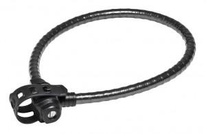 Trelock - Panzerkabelschloss Trecolor 75cm, � 15mm PK 222/75, FIXXGO Classic black