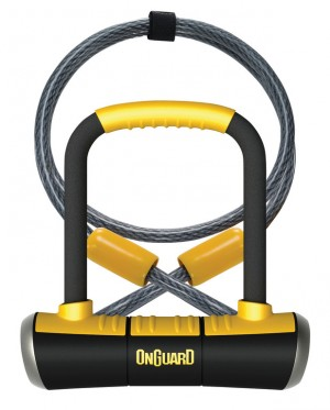 Onguard - B�gelschloss Onguard Pitbull Mini DT8008 90 x 140mm, � 14mm, mit Seil und Halter