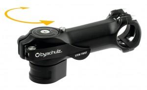 Predstavec Speedlifter Stem Twist 75mm/8°,31,8mm upevnení na rídítka,cerná