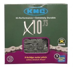 Chaîne KMC X-10 gris-gris 116 maillons 5,9 mm 10 vit.