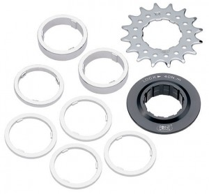 Diverse - Single Speed Ritzel / Distanzring-Set 17 Z�hne