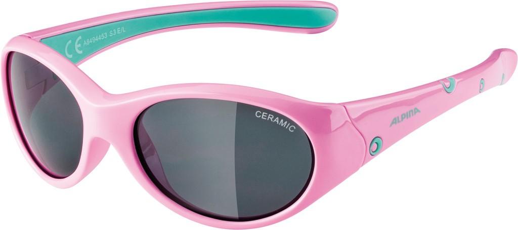 Slunecní brýle Alpina Flexxy Girl, Obroucky ruž./zelená skla cerná S3