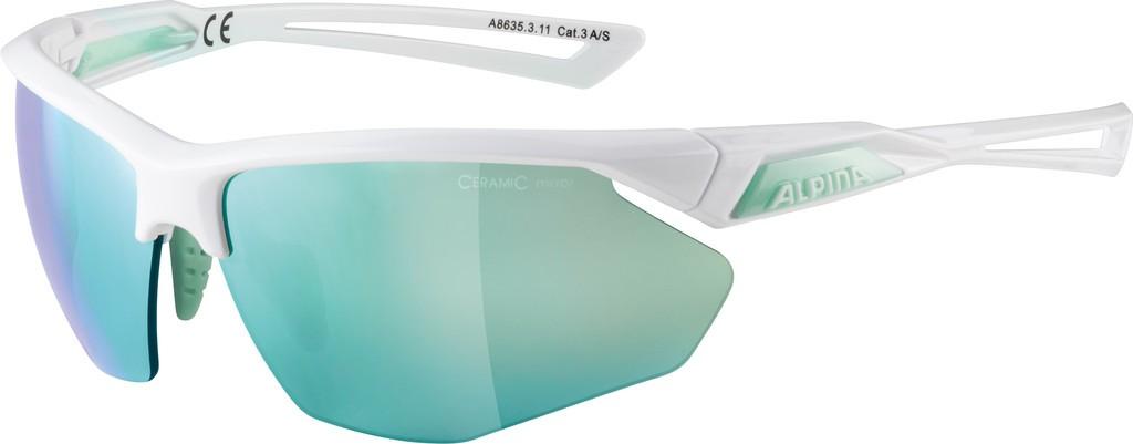 Slunecní brýle Alpina Nylos HR, Obrouc.bílá pistác.sklo emerald miS3