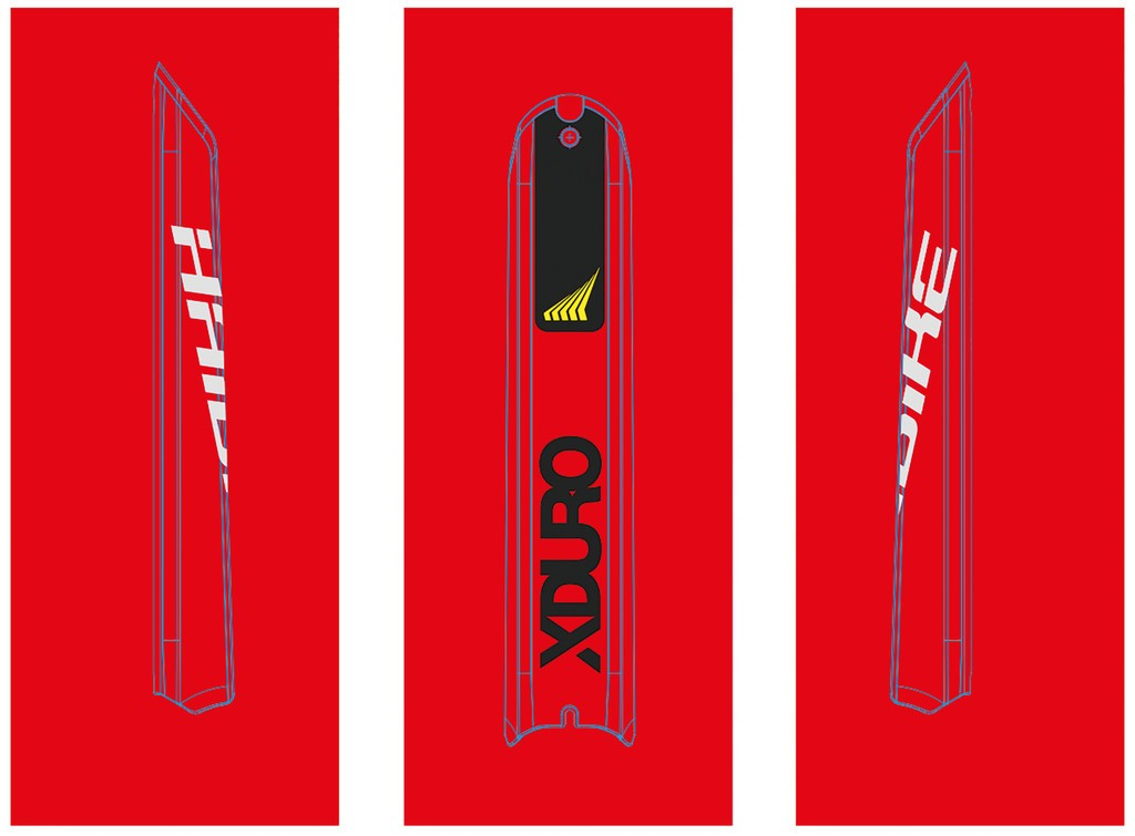 Dekor E-Bike Xduro p.skidplate baterie, 2018, HB-S11 žlutá + cerná