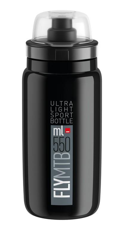 Láhev na pití Elite Fly MTB, 550ml, cerná/šedá