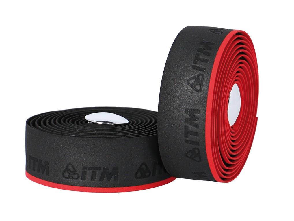Páska na rídítka ITM EVA mit Linie,cerná,cervená linka