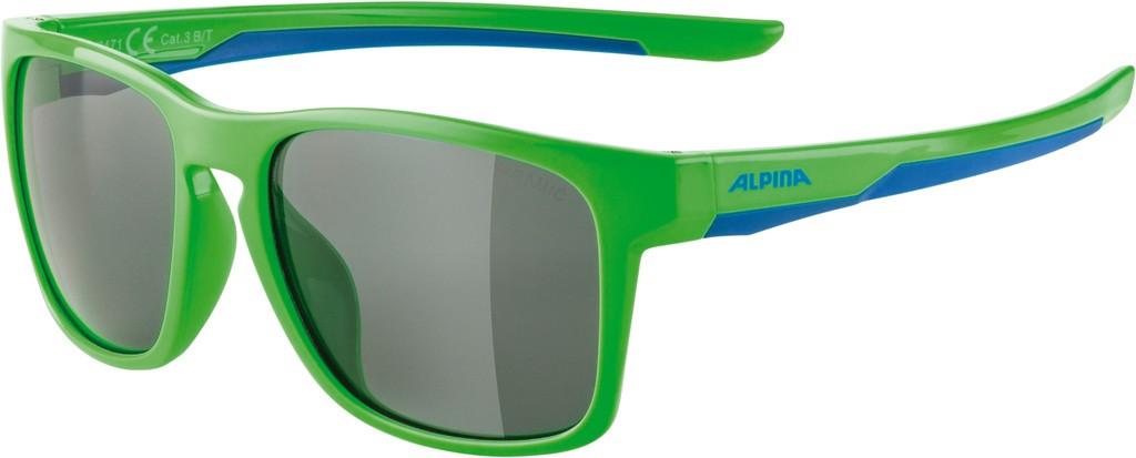 Slunecní brýle  Alpina FlexxyCool Kids I, Obroucky neon-zel.modrá sklo cerná