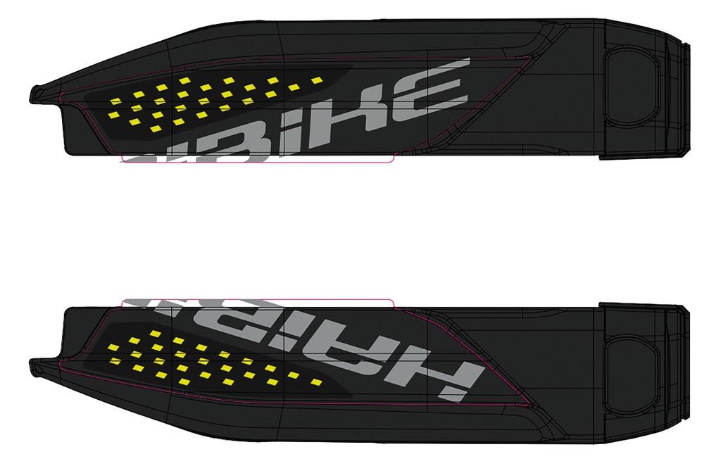Dekor E-Bike Sduro p.kryt baterie, 2018, lime