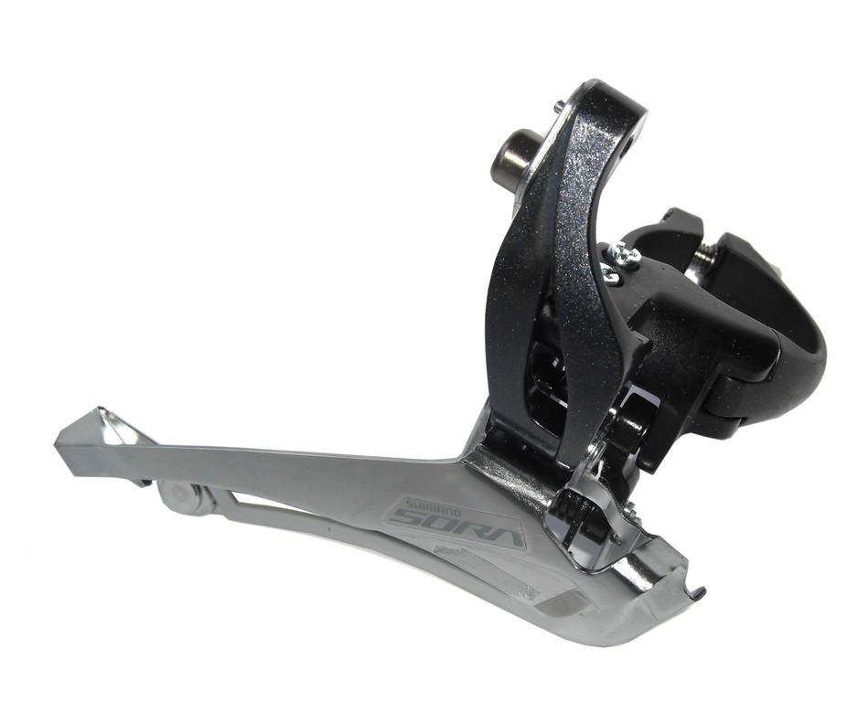 Shimano přesmykač SORA FD-R3000 pro 2x9 obj. 34,9/31,8 + 28,6 Down Swing/61-66 pro 46-52z max 16z ka
