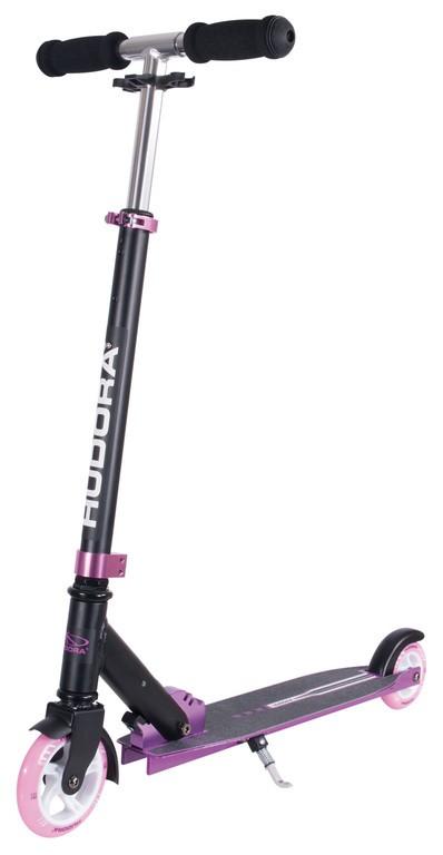 Koloběžka Hudora Bold Wheel 125/100 pink/černá