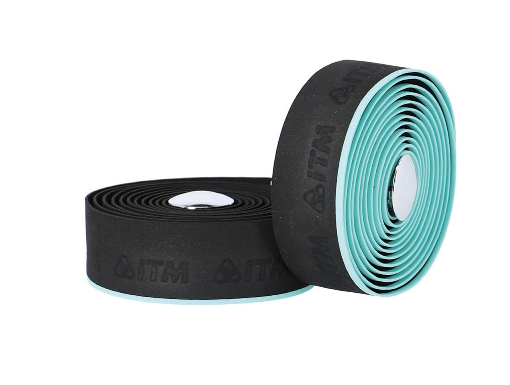 Páska na rídítka ITM EVA mit Linie,cerná, sv.modrá linka