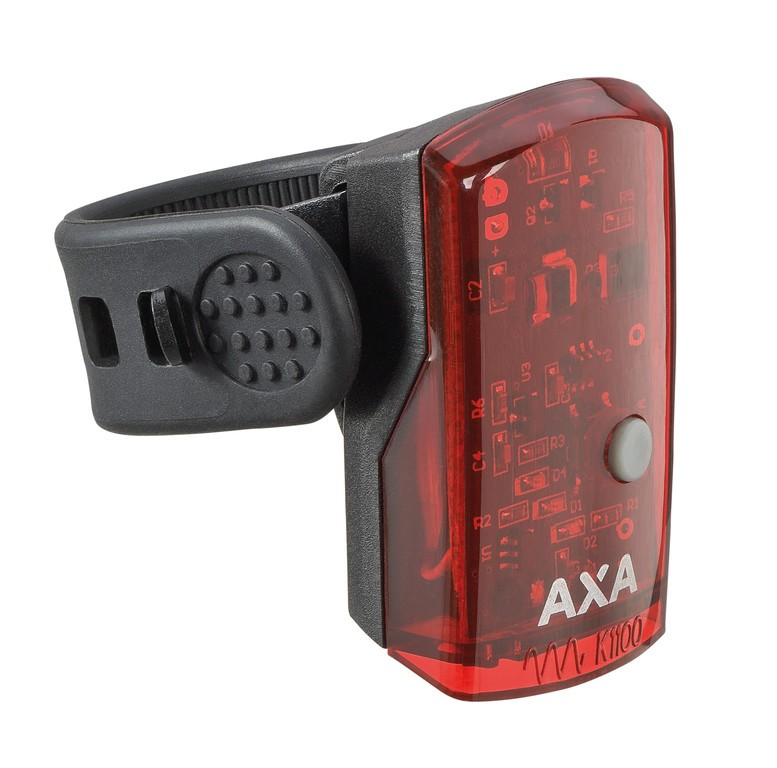 LED zadní svetlo na baterie AXA 1-LED cerná + USB Kabel