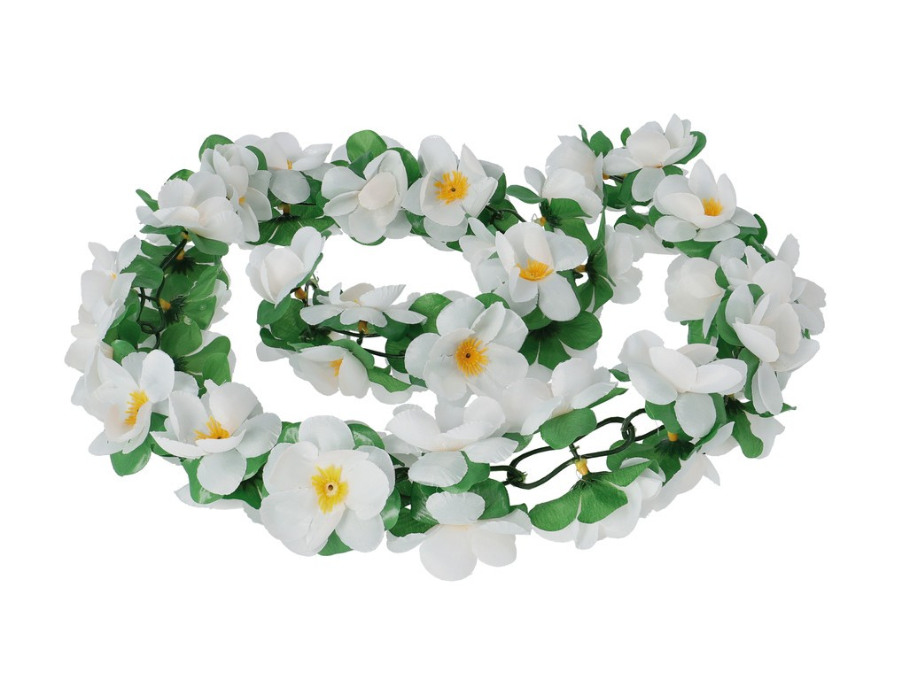 Basil Flower Garland bílá
