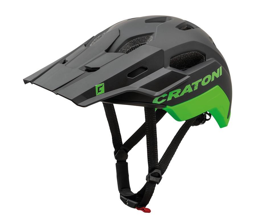 Cratoni C-Maniac 2.0 Trail, Vel. M/L (54-58cm) cerná/neonzelená mat.