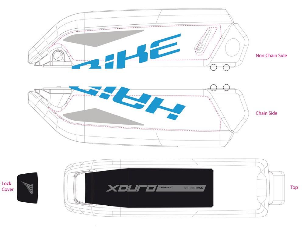 Haibike Xduro pro baterii 2015 cyan/šedá