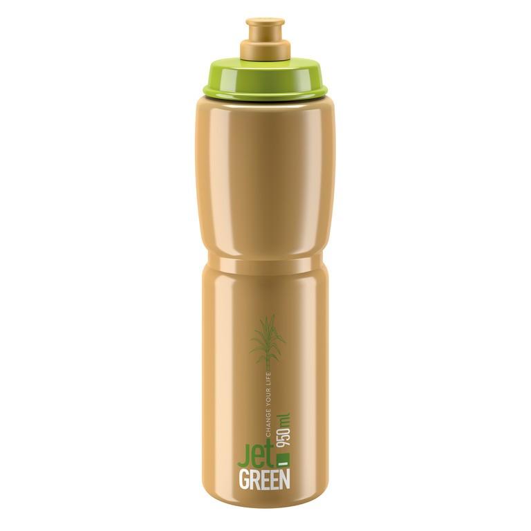 Láhev Elite Jet Green, 950ml, zelená/hnedá