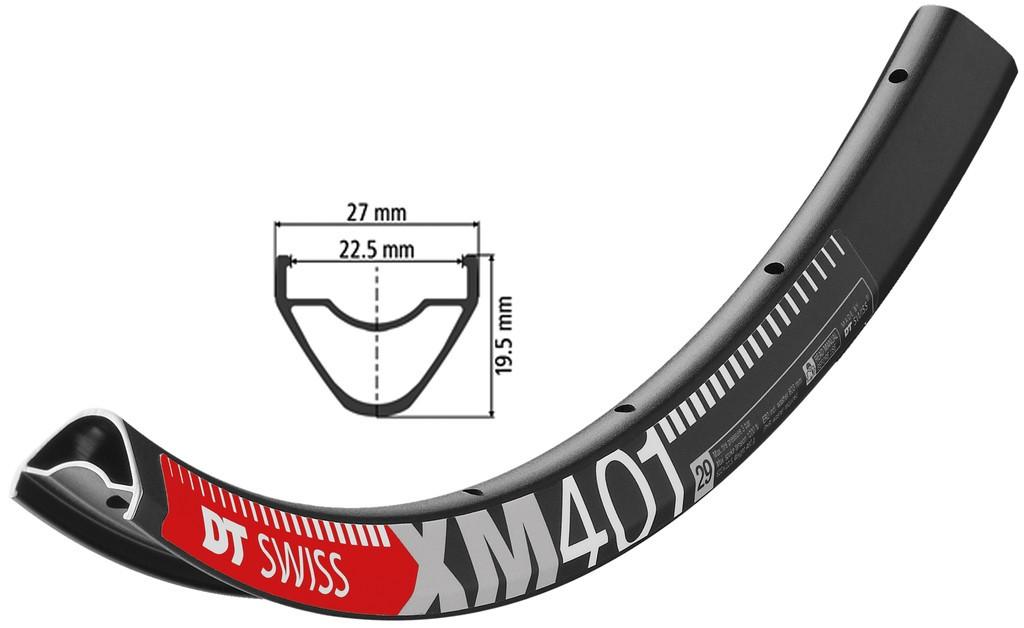 """Ráfek DT Swiss XM 401 29"""" cerná, 622-22,5 VL 6,5mm 28 der"""