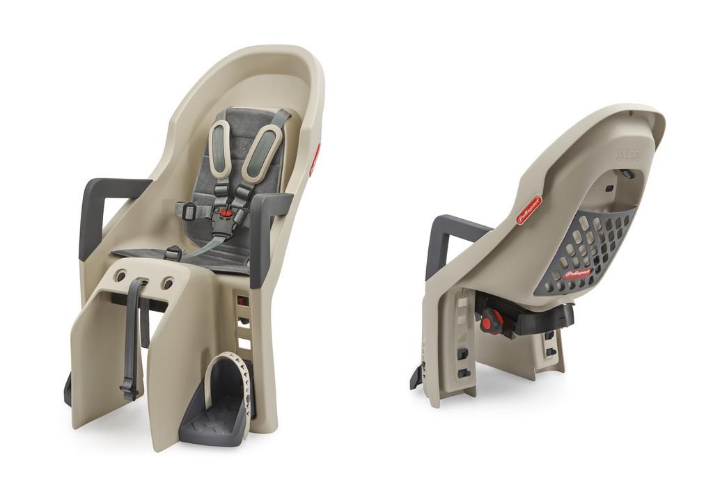 Detská sedacka Polisport Guppy Maxi CFS, krémová/šedá, upevnení na nosic
