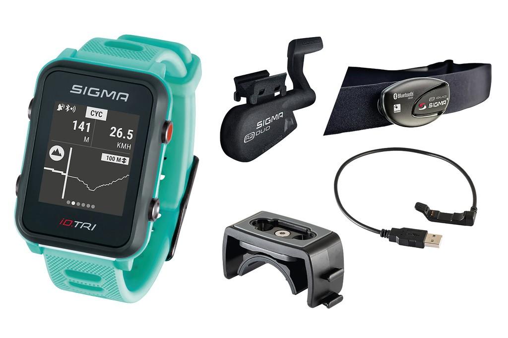 Sport. hodinky Sigma ID Tri Set neon.mentol.