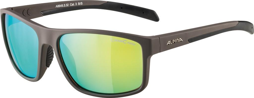 Slunecní brýle Alpina Nacan I, Obroucky antacit mat. sklo žlut.zrc.