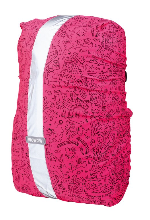 Obal na batoh Wowow Rebel Colors rosa, Graffiti-potisk, 25 L