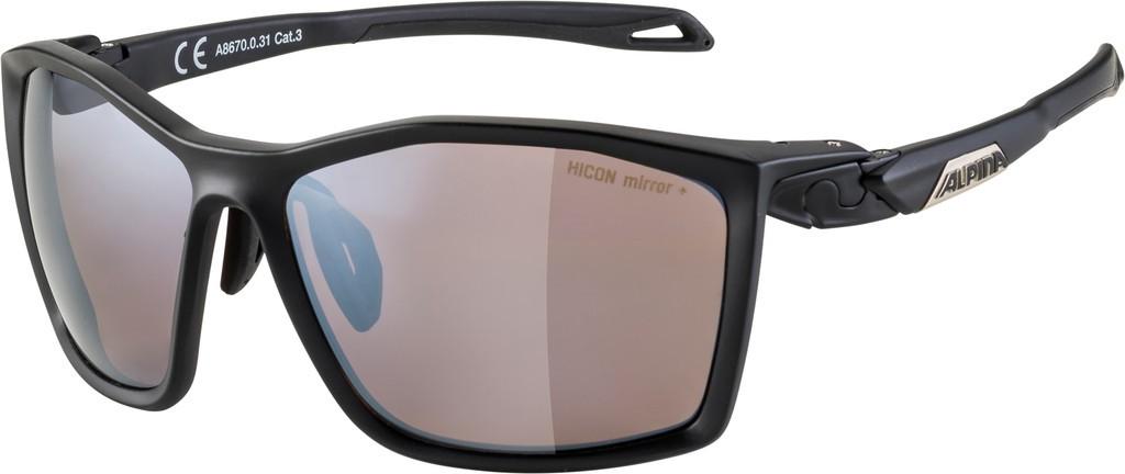 Slunecní brýle  Alpina Twist Five HM+, Obroucky cerná mat. sklo cerná zrcadl.