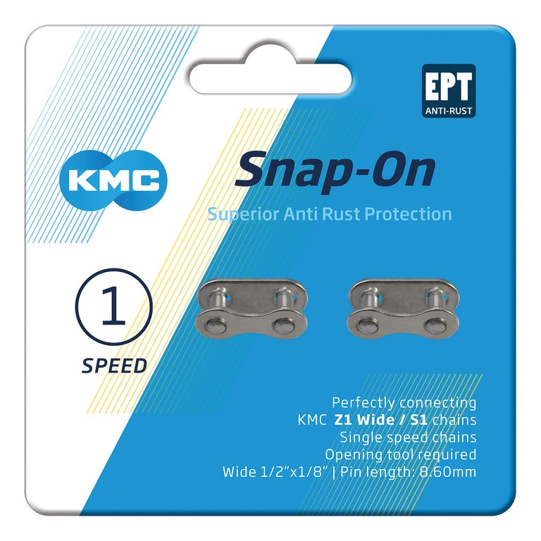 KMC Snap-On Wide EPT (2 ks) stříbrná