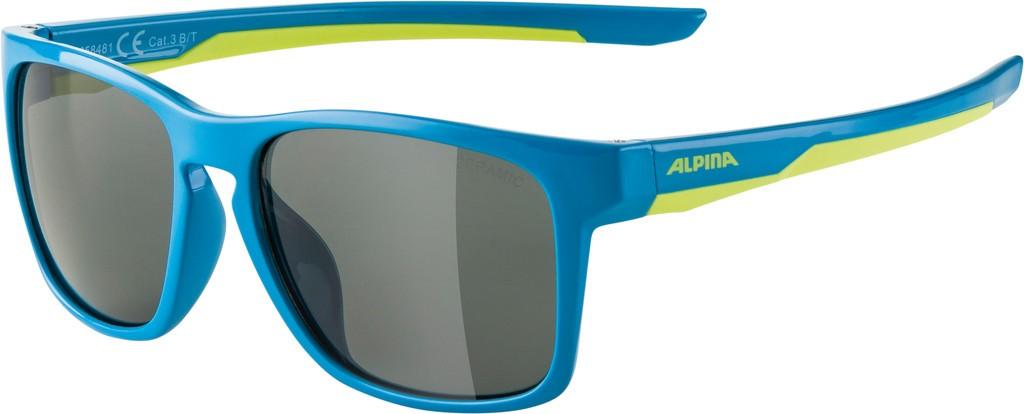 Slunecní brýle  Alpina FlexxyCool Kids I, Obroucky modrá limet.sklo cerná