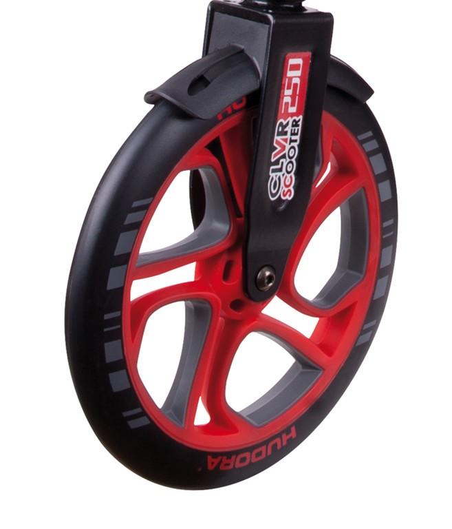 Sada koleček Hudora CLVR 250mm červené mod.14831