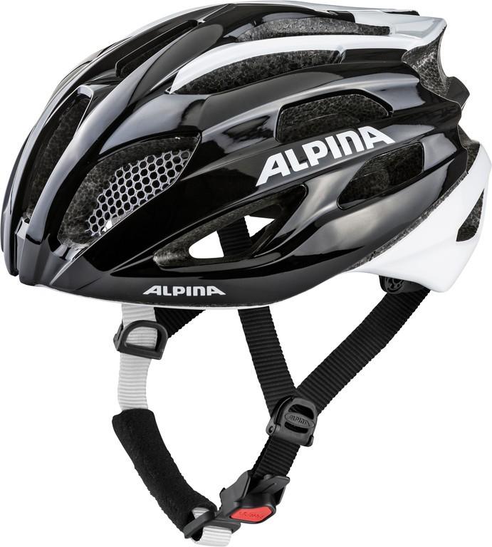 Cyklistická helma Alpina Fedaia, black-white vel.53-58cm