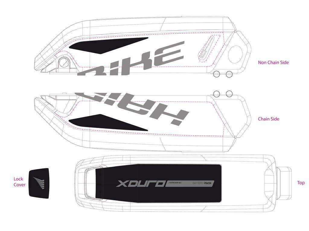 Haibike Xduro pro baterii 2015 kovově šedá/černá