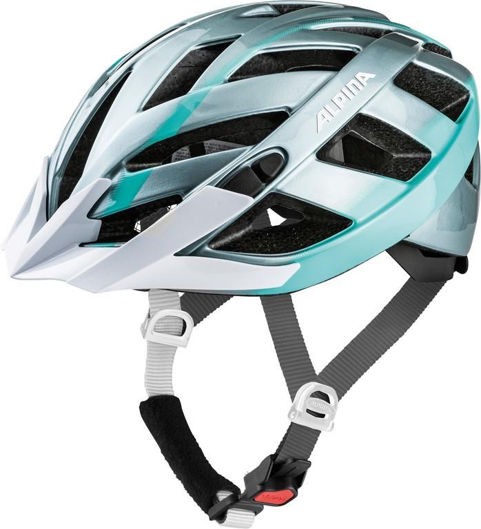 Cyklistická helma Alpina Panoma 2.0, steelgrey-smaragd vel.52-57cm