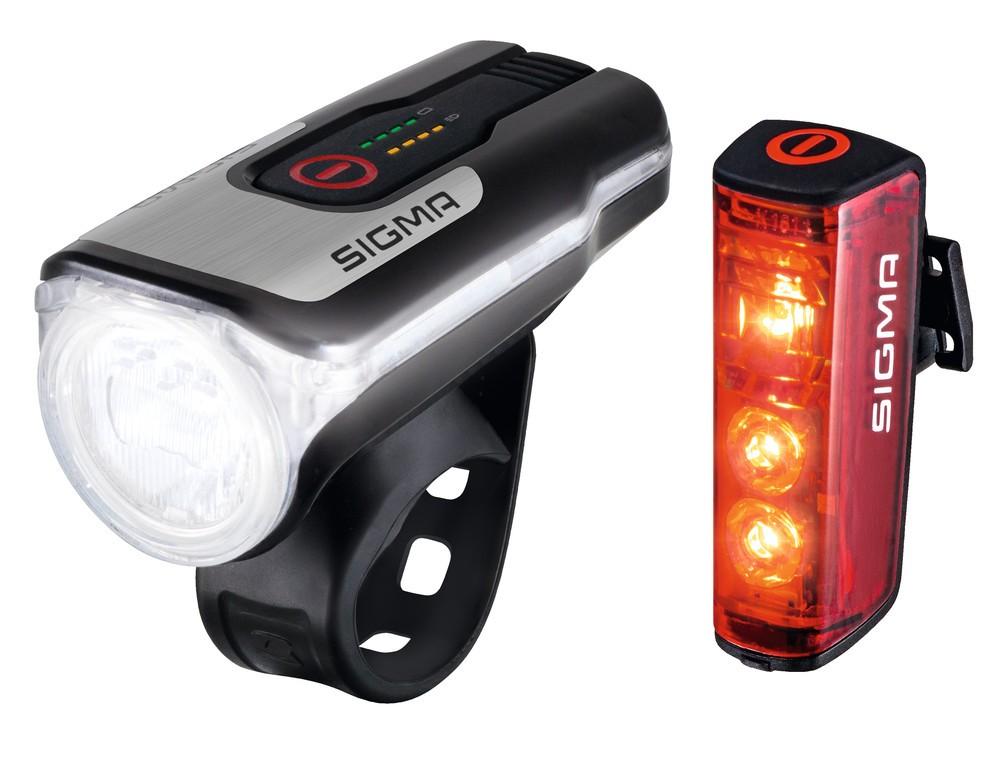 LED-osvetl.na bat.sada Sigma Aura 80 USB inkl Blaze