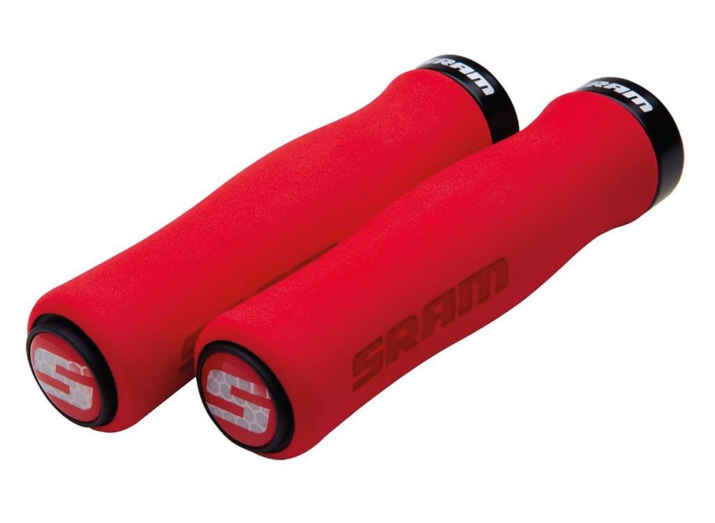 Soft gripy Contour,zajiš.šrouby, 129mm cervená,objímka,cerná+ucpávky
