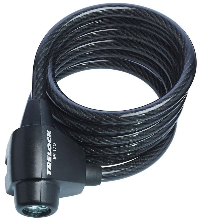 Spiralkabelschloss Trelock 180cm, Ø 8mm - Spiralkabelschloss Trelock 180cm, Ø 8mm
