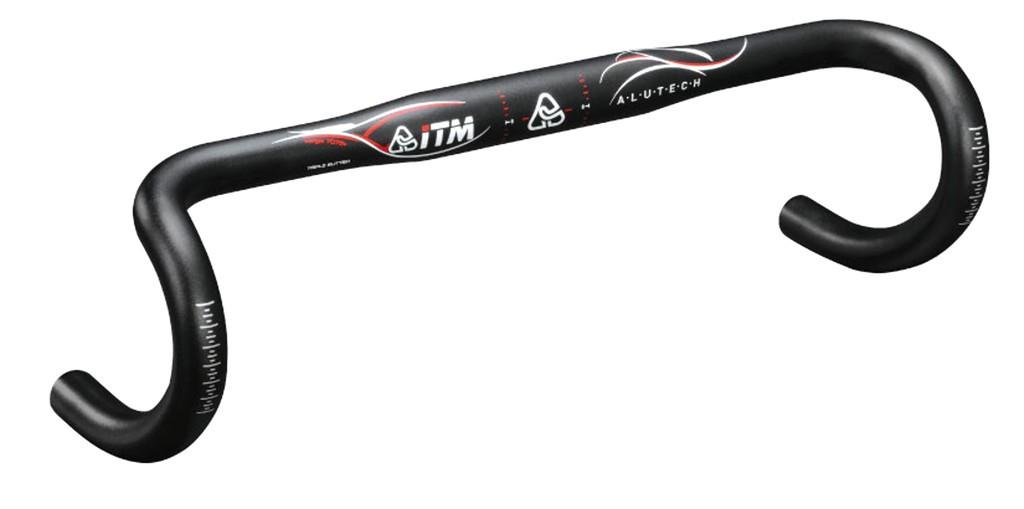 Závodní ridítka ITM Al technologie 7075, Ø31,8 mm, 400mm,cerná anodizovaný