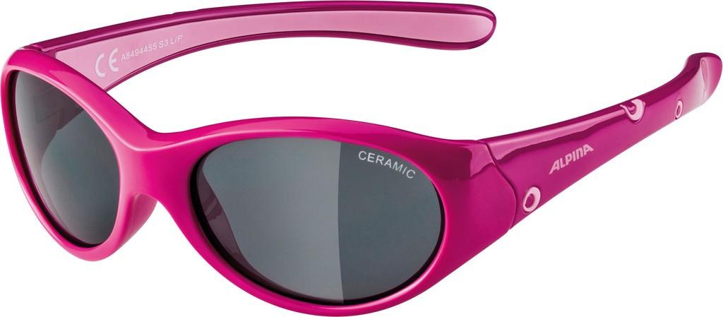 Slunecní brýle Alpina Flexxy Girl, Obroucky pink/ružová sklo cerná S3
