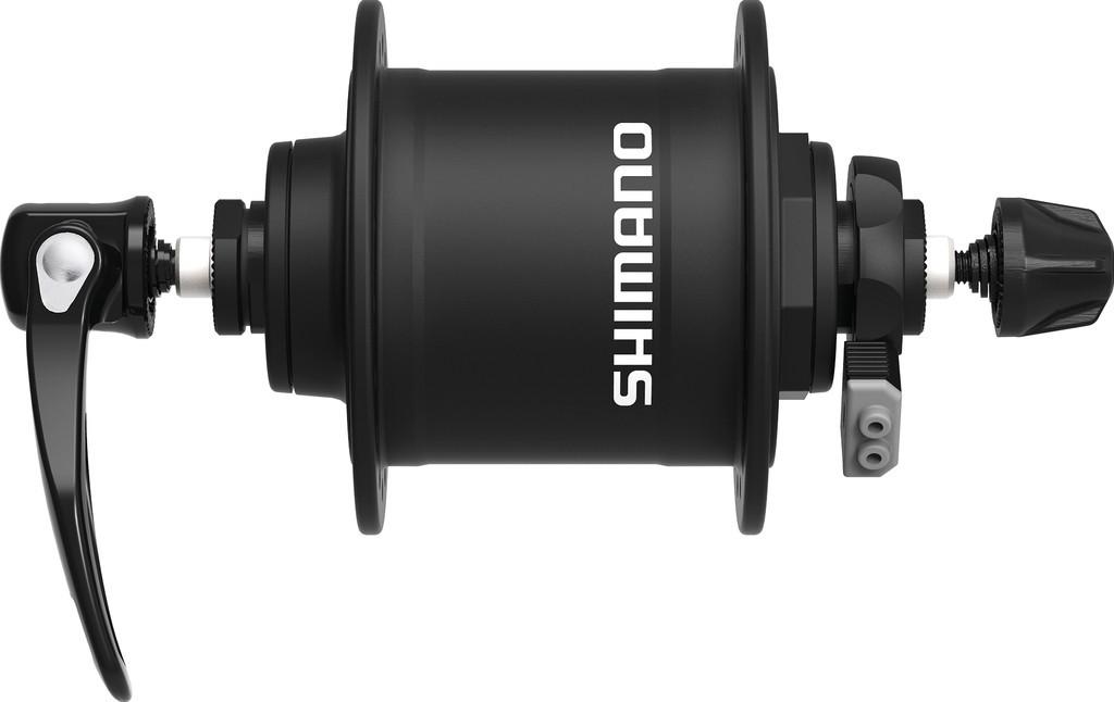 Náboj.dynamo pr.kola Shimano DHT4000100mm, 36 der, rychloup., cerná